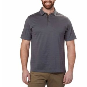 Men's Cotton Poly Polo Dark Gray Casual Shirt